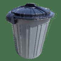 Бак для мусора Irak Plastik Luxury № 5 Herkul 73 л серый