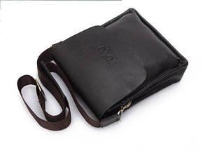 Мужская сумка Polo Videng через плечо черная, фото 2