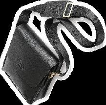 Мужская сумка Polo Videng через плечо черная, фото 3