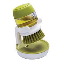 Щетка для мытья с диспенсером для жидкого мыла Jesopb, фото 2