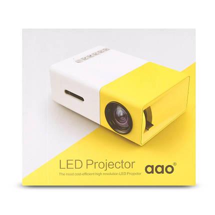 Портативний мультимедійний Проектор з динаміком Led Projector YG300 Акція, фото 2
