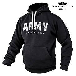 """Толстовка фирменная """"ARMY"""" BLACK (Размеры L, XL)"""