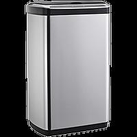 Сенсорное мусорное ведро JAH 30 л прямоугольное с внутренним ведром металлик