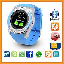 Наручные смарт часы V8 Smart Watch синиии. Лучшее качество, фото 3