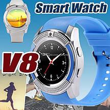 Наручные смарт часы V8 Smart Watch синиии. Лучшее качество, фото 2