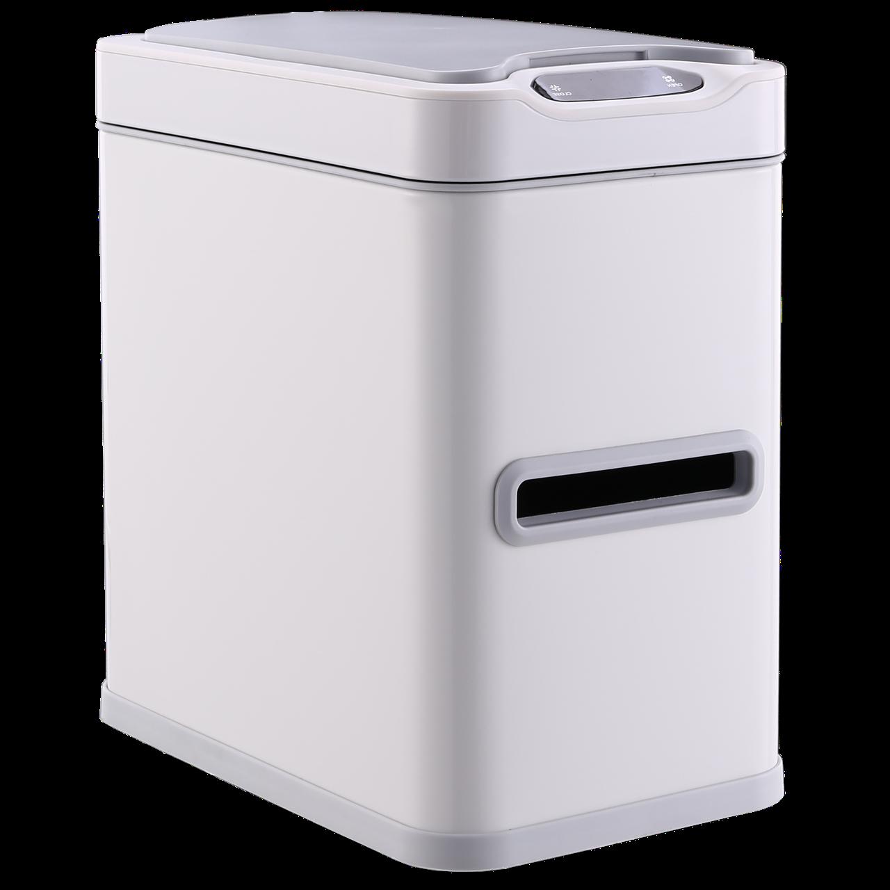 Сенсорное мусорное ведро JAH 7 л прямоугольное белое с внутренним ведром