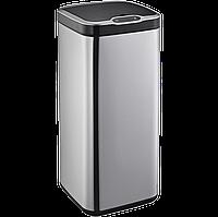 Сенсорное мусорное ведро JAH 30 л квадратное металлик без внутреннего ведра, фото 1