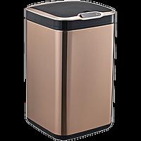 Сенсорное мусорное ведро JAH 20 л квадратное розовое золото без внутреннего ведра