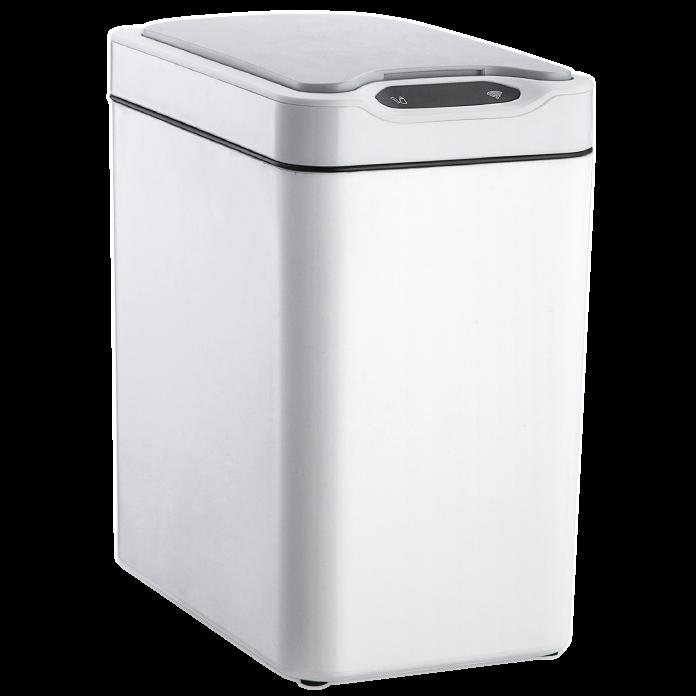 Сенсорное мусорное ведро JAH 12 л прямоугольное белое без внутреннего ведра