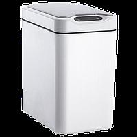 Сенсорное мусорное ведро JAH 12 л прямоугольное белое без внутреннего ведра, фото 1
