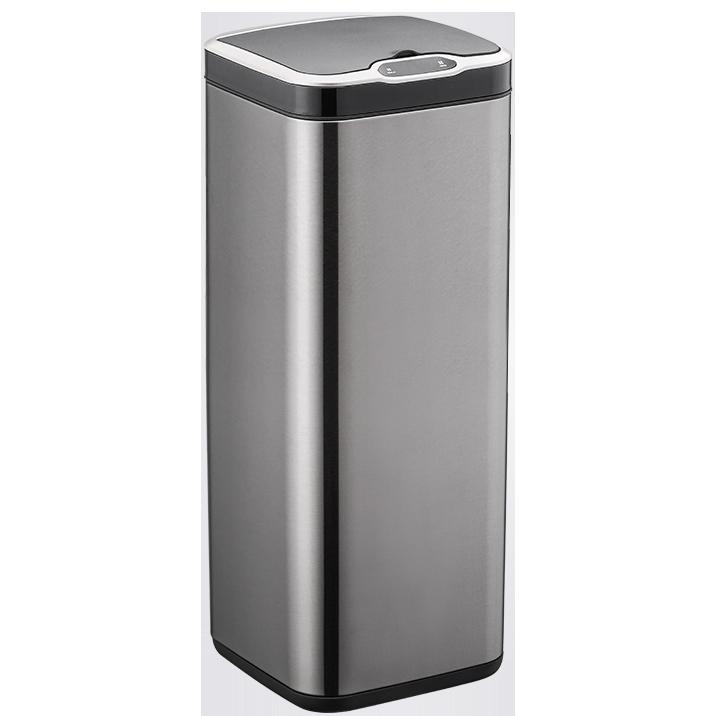 Сенсорное мусорное ведро JAH 30 л квадратное черный металлик без внутреннего ведра