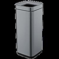 Ведро для мусора JAH 30 л черный металлик без крышки и внутреннего ведра, фото 1