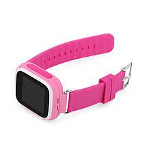 Детские смарт-часы Q80 с GPS трекером. Smart Watch  детские смарт часы розовые для девочки, фото 3