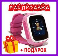 РАСПРОДАЖА. Детские часы Smart WatQ80 с GPS трекером. + подарок. детские смарт вотч розовые для девочки