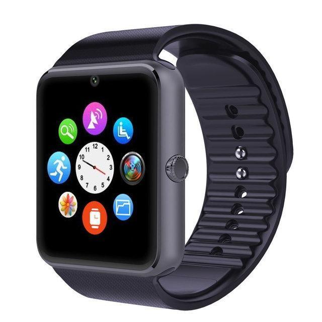 Умные часы Smart Watch Phone GT08 Черный корпус и ремешок, серебристый ободок