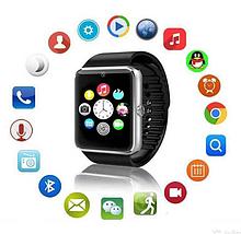 Умные часы Smart Watch Phone GT08 Черный корпус и ремешок, серебристый ободок, фото 3