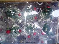Набор новогодних елочных шаров из 6шт-стекло