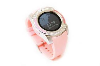 Наручные смарт часы V8 Smart Watch розовые женский. Лучшее качество, фото 2