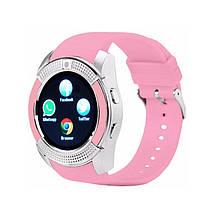 Наручные смарт часы V8 Smart Watch розовые женский. Лучшее качество, фото 3