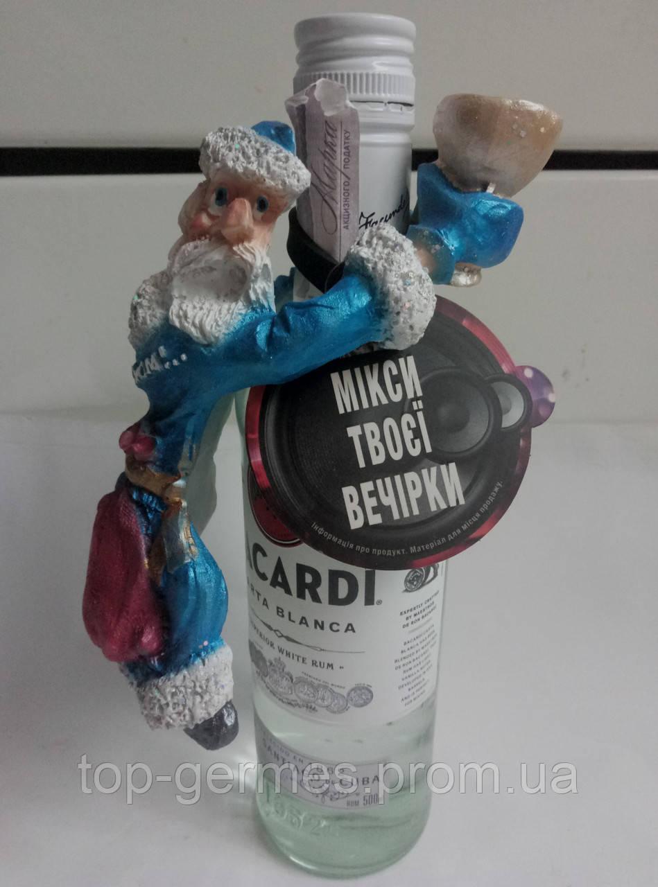 Украшение на новогоднюю бутылку