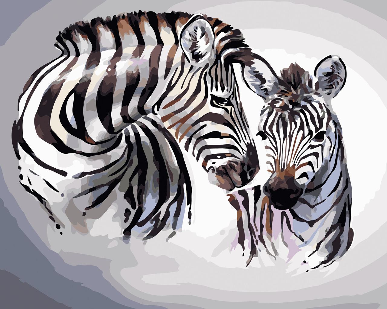 Художественный творческий набор, картина по номерам Зебры, 50x40 см, «Art Story» (AS0432)
