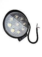 Дополнительные светодиодные противотуманные LED фары (1шт) 10-30V 05-27W FLOOD ближнего света 115x115x55 LED-фары