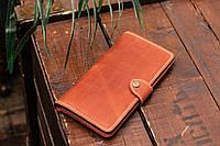 Кожаный кошелёк Turtle вестерн XL  винтажный коричневый., фото 1