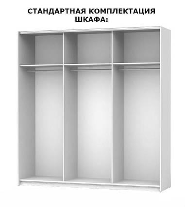 "Шкаф ""Терра 6 дв"" белый глянец черный мат ТМ ""Миро марк"", фото 2"