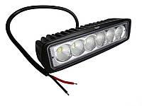 Дополнительные светодиодные противотуманные LED фары (1шт) 9-32V 07-18W ближнего света 160x46x63 LED-фары