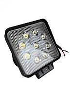 Дополнительные светодиодные противотуманные LED фары (1шт) 10-30V 06-27W SPOT дальнего света 110x110x50 LED-фары