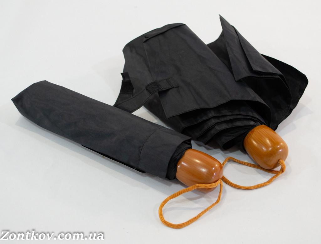 """Черный механический складной зонтик оптом от фирмы """"Susino""""."""