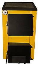 Котел на дровах и угле Буран-mini 14 кВт с плитой, фото 3