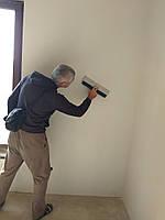 Шпаклёвка стен под покраску (с шлифовкой)
