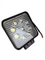 Дополнительные светодиодные противотуманные LED фары (1шт) 10-30V 06-27W FLOOD ближнего света 110x110x50 LED-фары