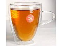 Чашка стеклянная с двойными стенками (300 мл)