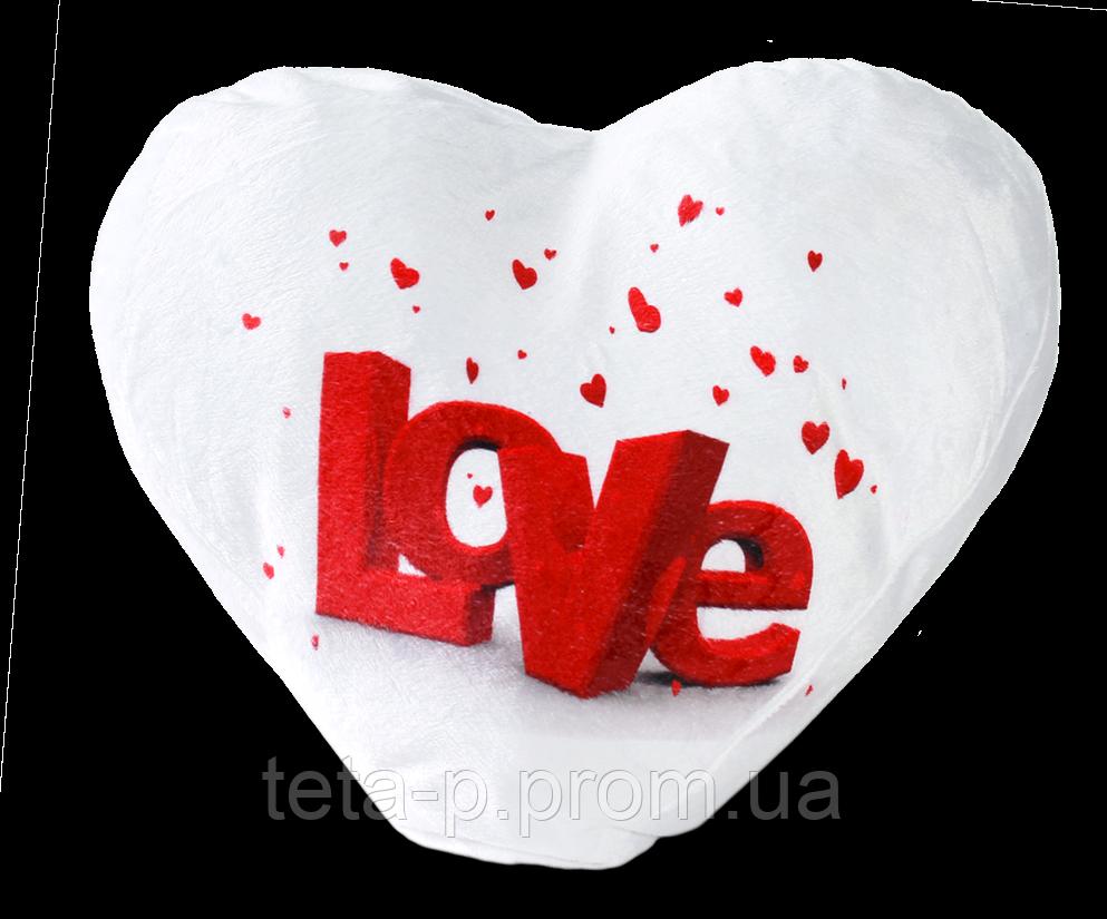 Подушка плюшевая для сублимации, сердце