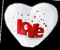 Подушка плюшевая для сублимации, сердце, фото 1