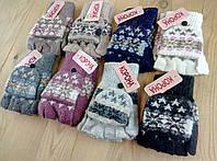 Перчатки женские шерстяные 2-ные без пальцев Корона ПЖЗ-1522