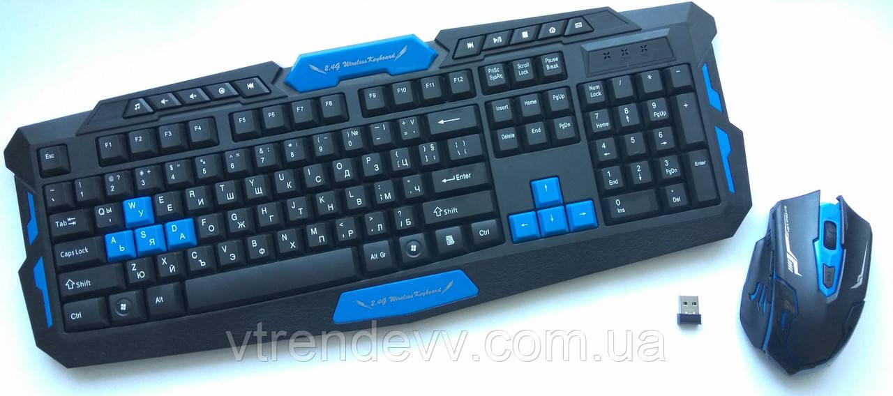 Ігрова клавіатура і миша бездротова для ПК UKC ПК-8100
