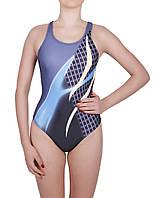Купальник спортивный подростковый для плавания Rivage line 1534, синий