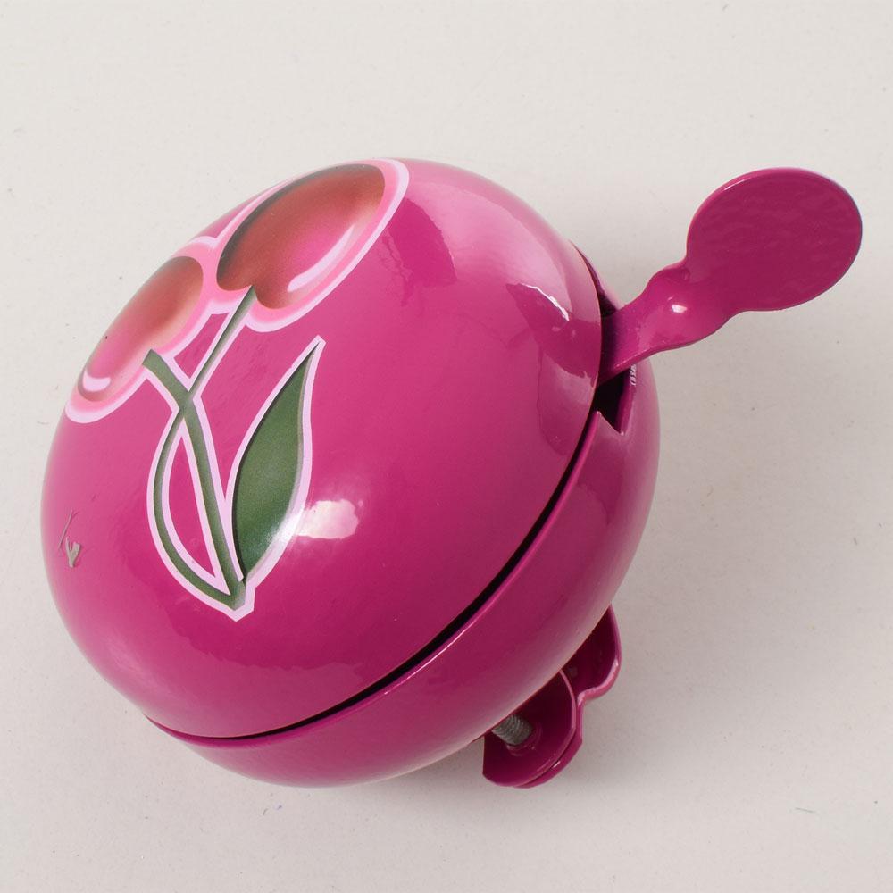 Дзвоник діндон алюм.+сталь 7,5см (Рожевий з вишнею) 024