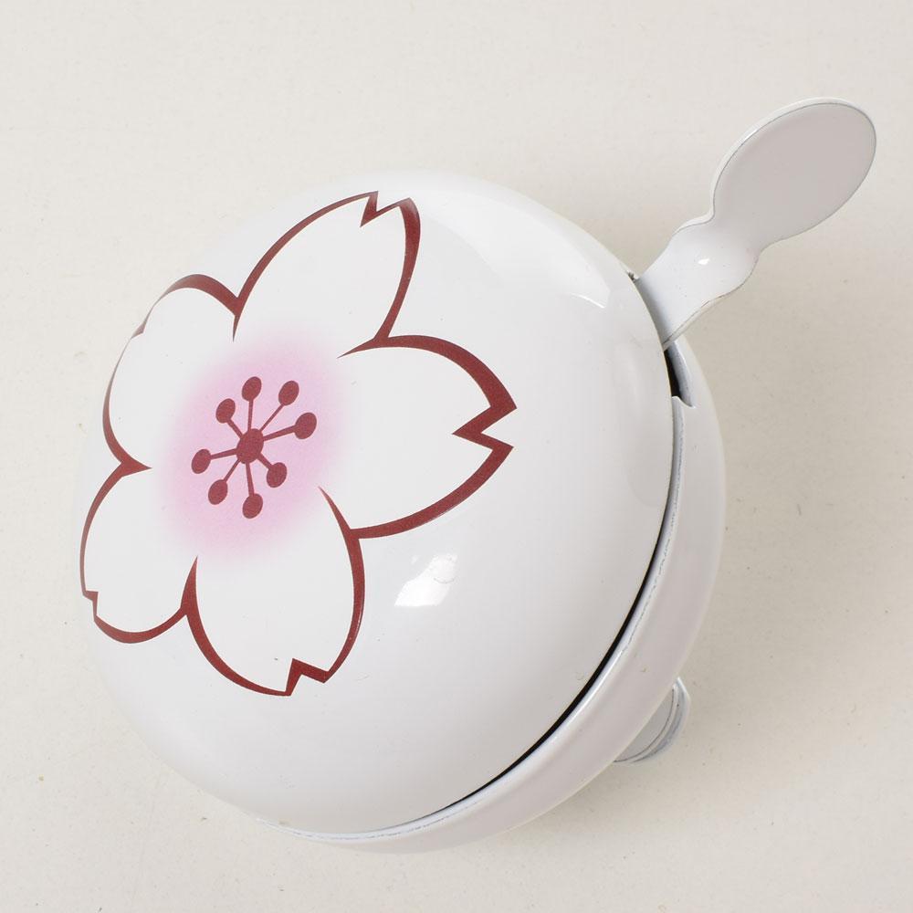 Дзвоник діндон алюм.+сталь 7,5см (Білий з квіткою) 023