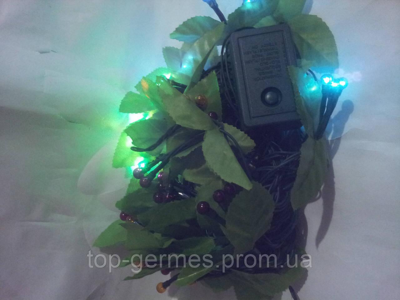 """Светодиодная Гирлянда """"зеленая ветка"""" 5м"""