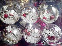 Новогодние шары  6 шт-стекло