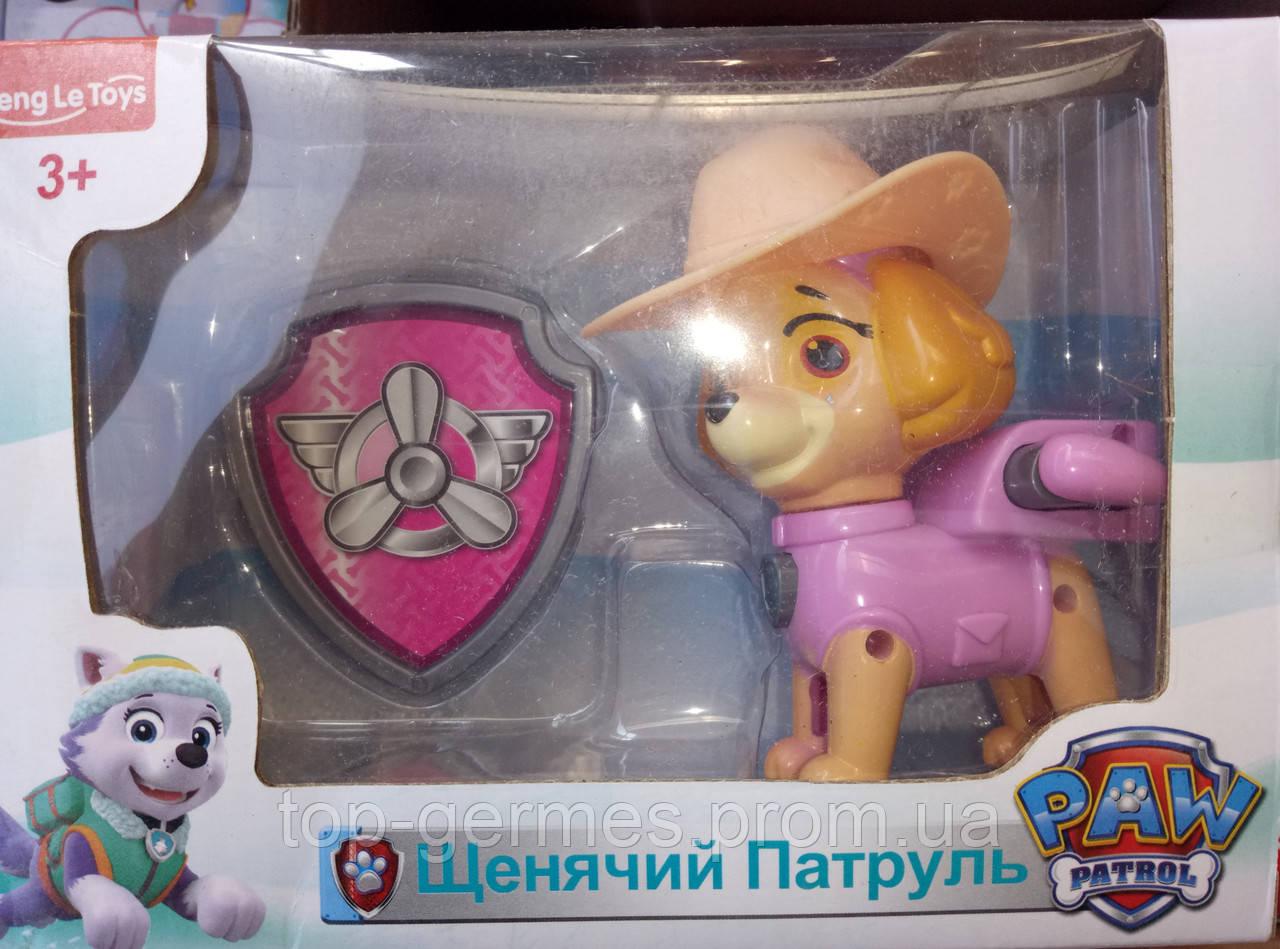Набор щенячий патруль+значок