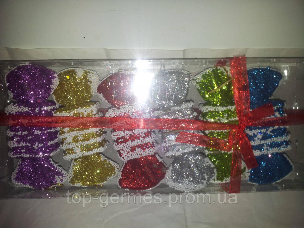 """Набор новогодних елочных игрушек-""""конфетки"""" 6шт"""