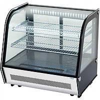 Тепловая витрина с пароувлажнением 120л. LED +30/+90 горизонтальная STALGAST Польша 852121
