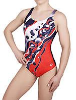 Купальник спортивный женский для плавания  Arena 8996, красный
