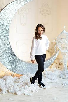 Свитер детский  Татьяна Филатова модель 217  вязанный белый