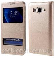 Чехол книжка Momax для Samsung Galaxy J7, J730, J7 2017 Gold
